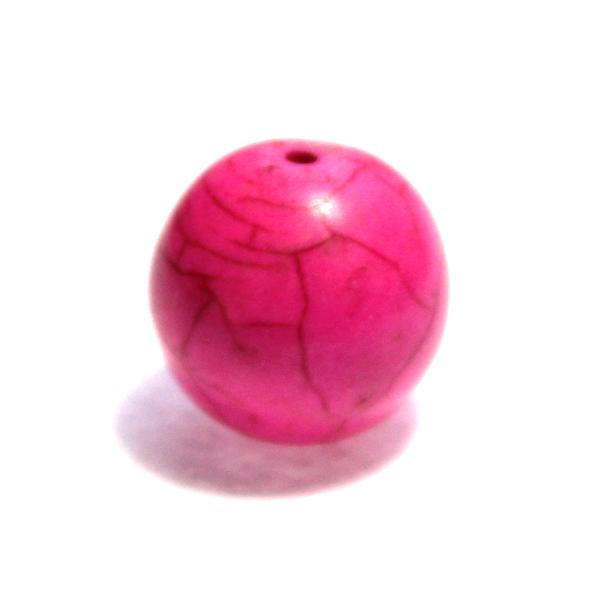 Syntetisk Turkos Rund Rosa 16mm 1st