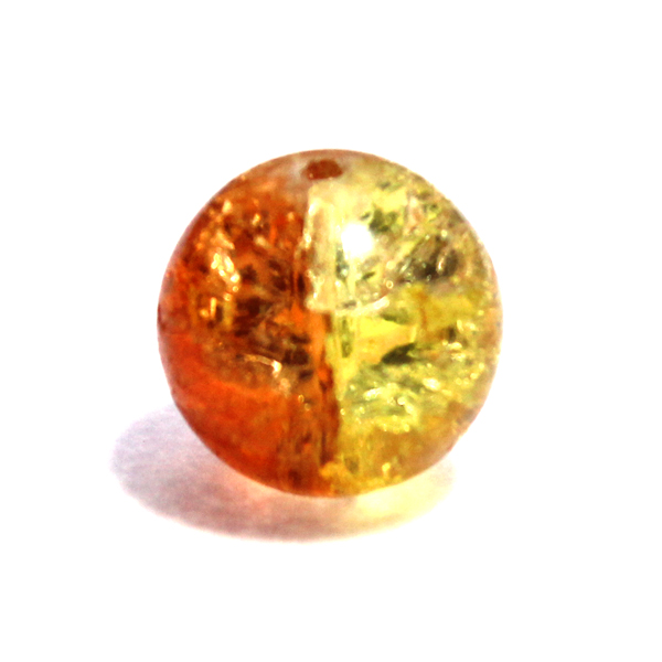Glaspärla Rund Gul/Orange 16mm 1st