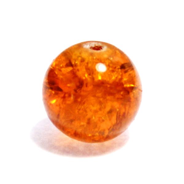 Glaspärla Rund Orange 16mm 1st