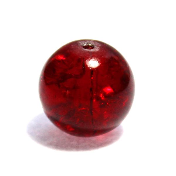 Glaspärla Rund Röd 16mm 1st