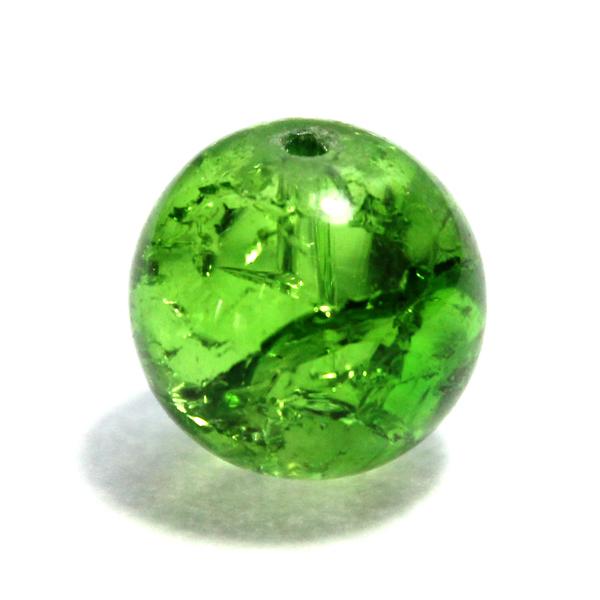 Glaspärla Rund Grön 16mm 1st