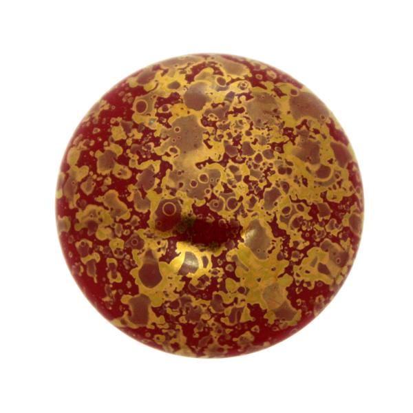 Coral Red Teracota Bronze Cabochon Par Puca 25mm 1st