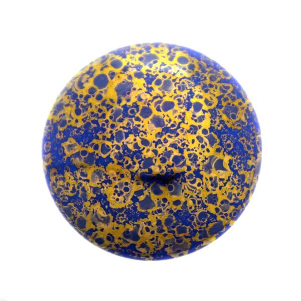 Opaque Blue Teracota Bronze Cabochon Par Puca 25mm 1st