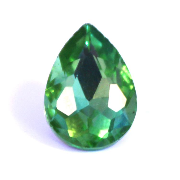 Light Green Kinesisk Strass Droppe 30x20mm 1st