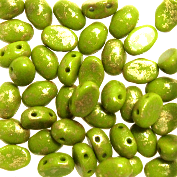 Opaque Olive Gold Splash Samos 10g