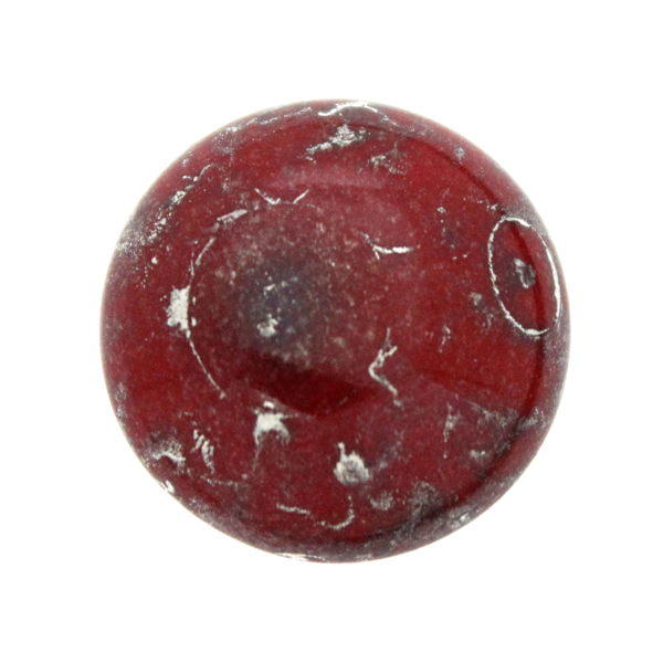 Opaque Red Patina Silver Cabochon Par Puca 18mm 1st
