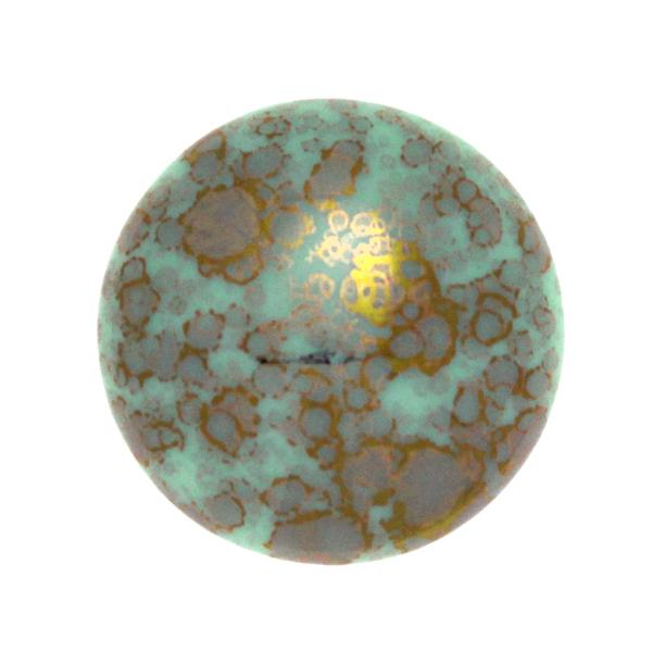 Opaque Aqua Teracota Bronze Cabochon Par Puca 25mm 1st