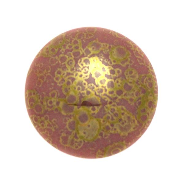 Opaque Rose Teracota Bronze Cabochon Par Puca 25mm 1st