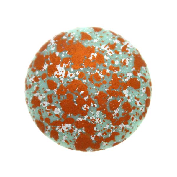 Opaque Aqua Tweedy Copper Cabochon Par Puca 25mm 1st
