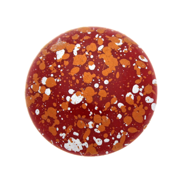 Opaque Red Tweedy Copper Cabochon Par Puca 25mm 1st