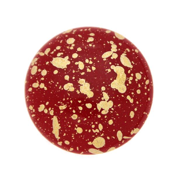 Opaque Red Gold Splash Cabochon Par Puca 25mm 1st