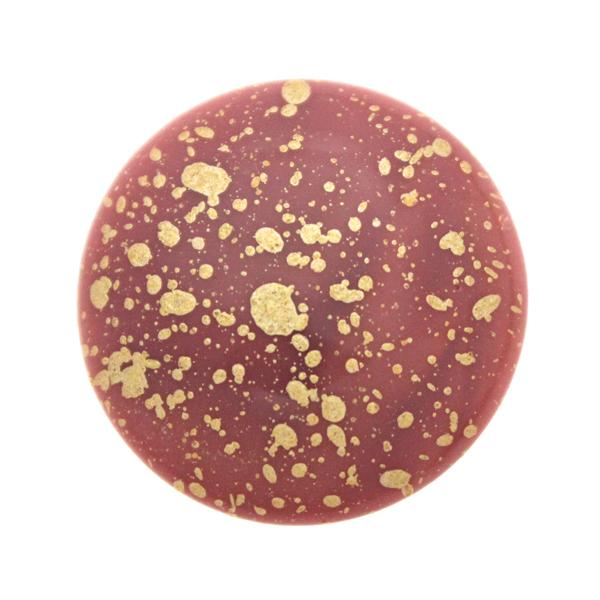 Opaque Rose Gold Splash Cabochon Par Puca 25mm 1st
