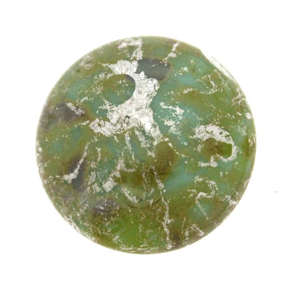 Opaque Aqua Patina Silver Cabochon Par Puca 25mm 1st