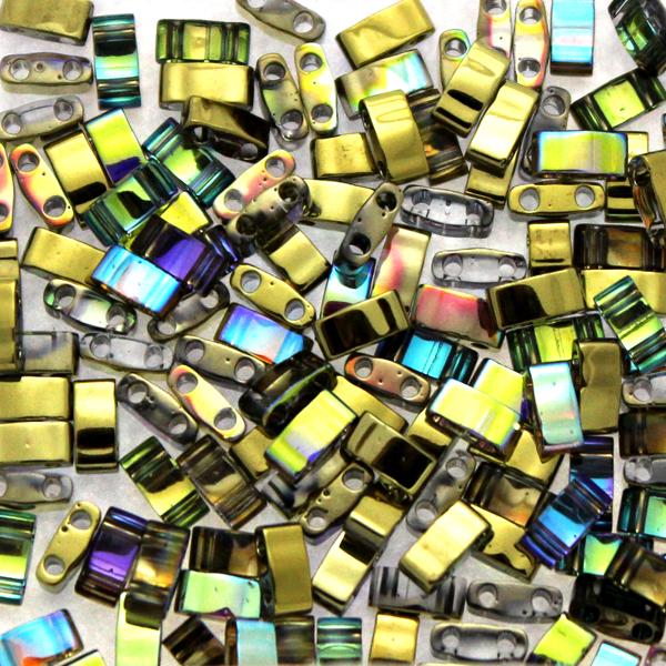 Crystal Golden Rainbow HTL55023 Miyuki Half Tila 5g