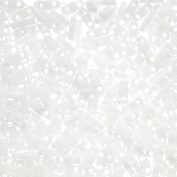 Matte Opaque White QTL0402F Miyuki Quarter Tila 5g