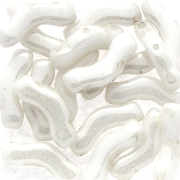 Opaque White Luster Bridge Beads 5g