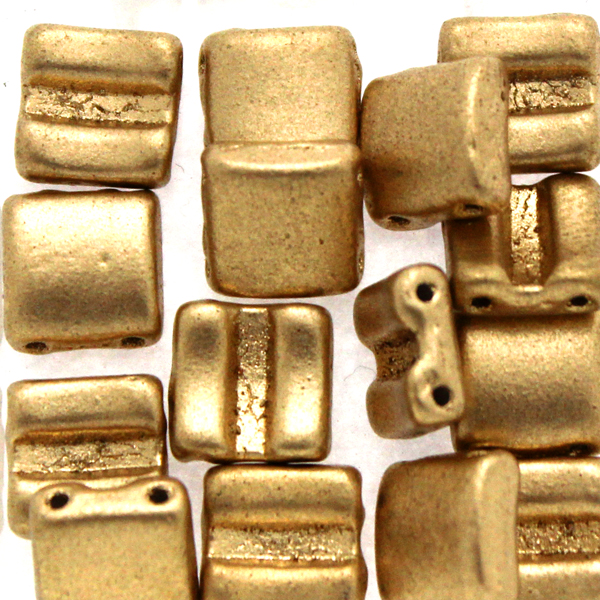 Aztec Gold Fixer Bead Horizontal Holes 5g