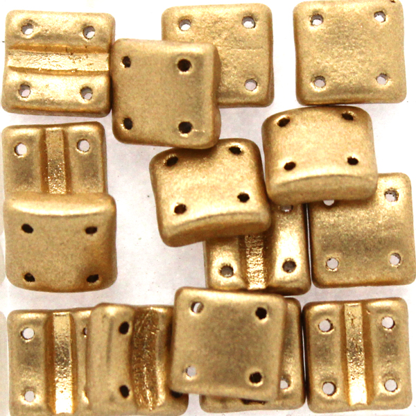 Aztec Gold Fixer Bead Vertical Holes 5g