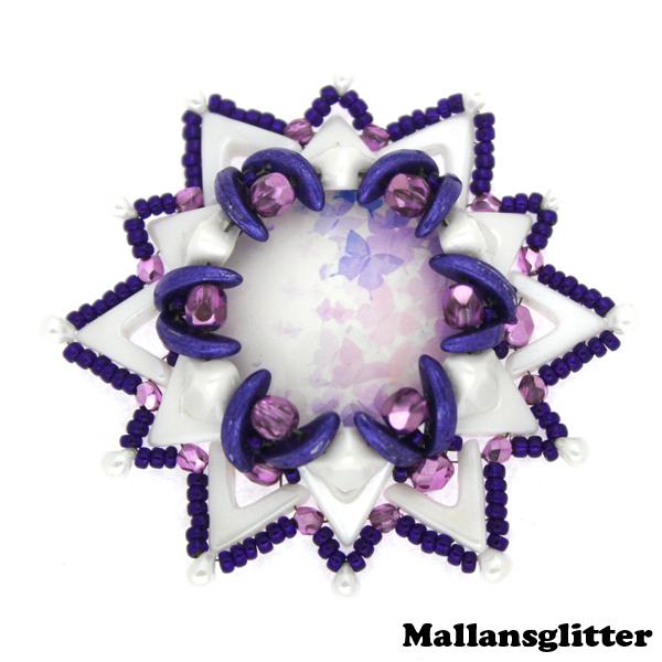 Dropava Kit Purple and White (EJ MÖNSTER ENDAST PÄRLOR)