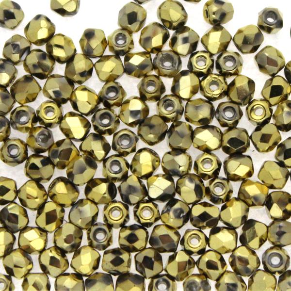 Crystal Amber Full Fire Polish 3mm 100st