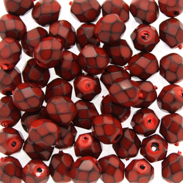 Snake Red Fire Polish 6mm 50st