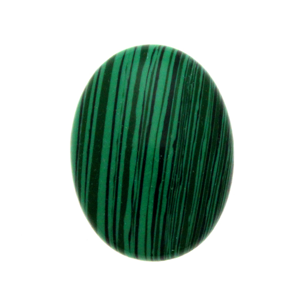 Syntetisk Malakit Cabochon Oval 40x30mm 1st