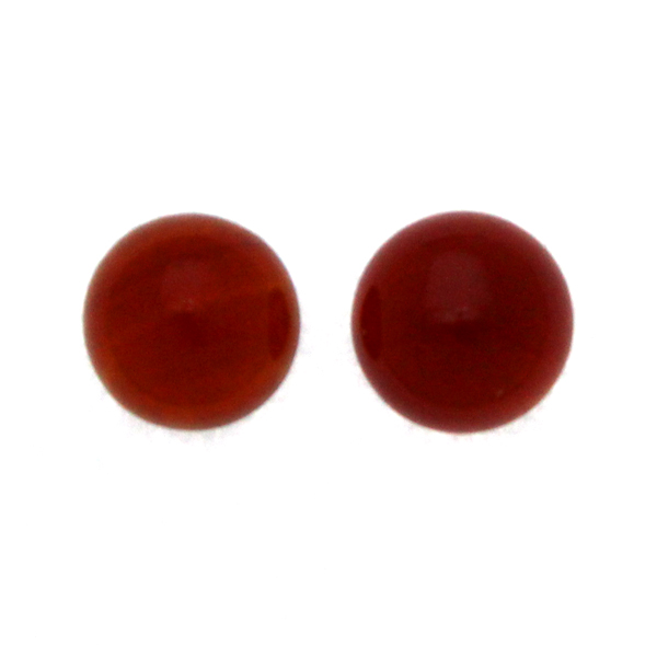 Röd Agat Cabochon Rund 12mm 2st