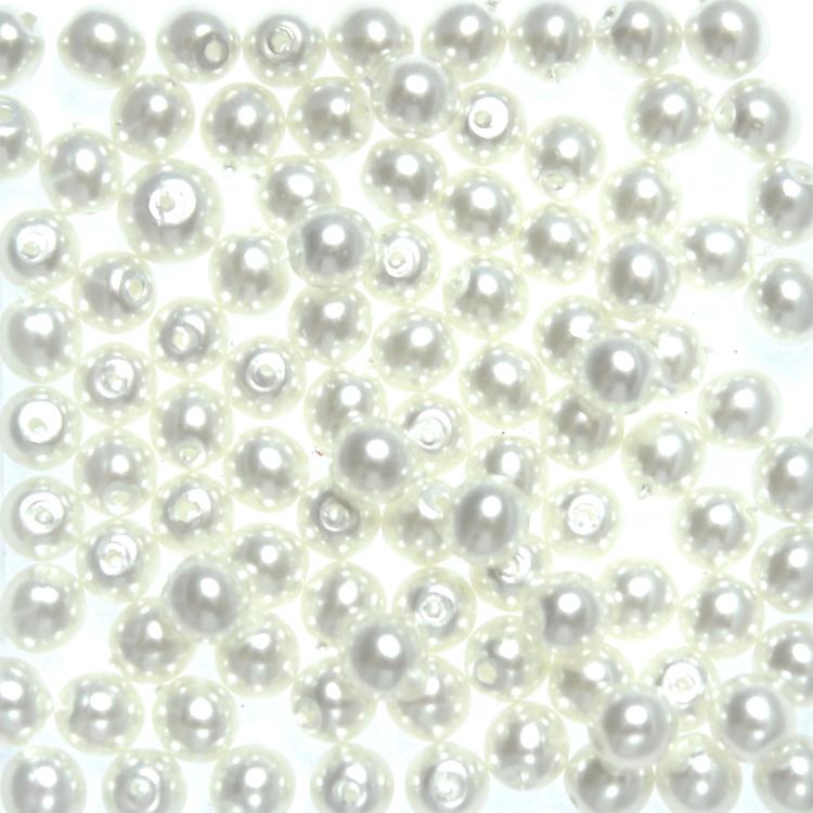 Bright White Vaxade Runda/Druks 2mm 100st