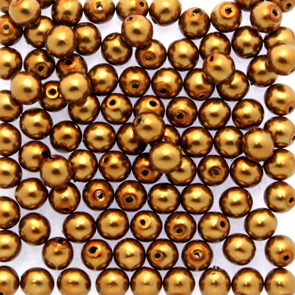 Bronze Vaxade Runda/Druks 2mm 100st