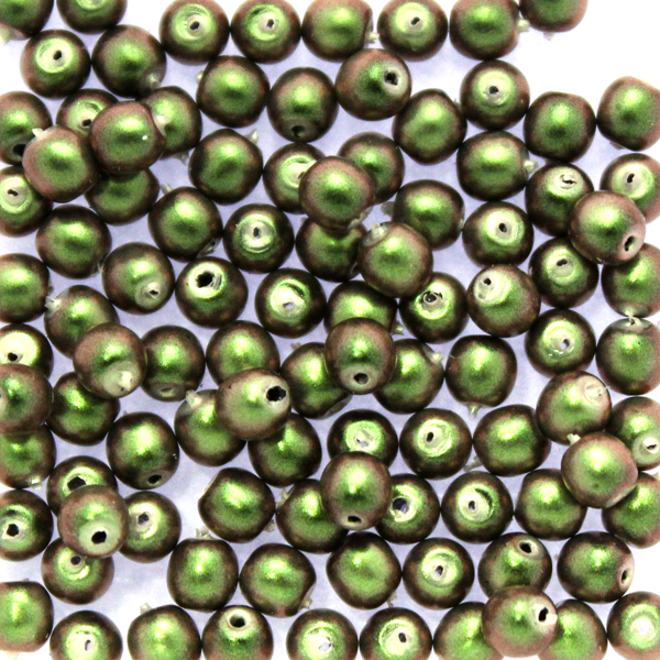 Polynesian Olive Runda/Druks 3mm 100st