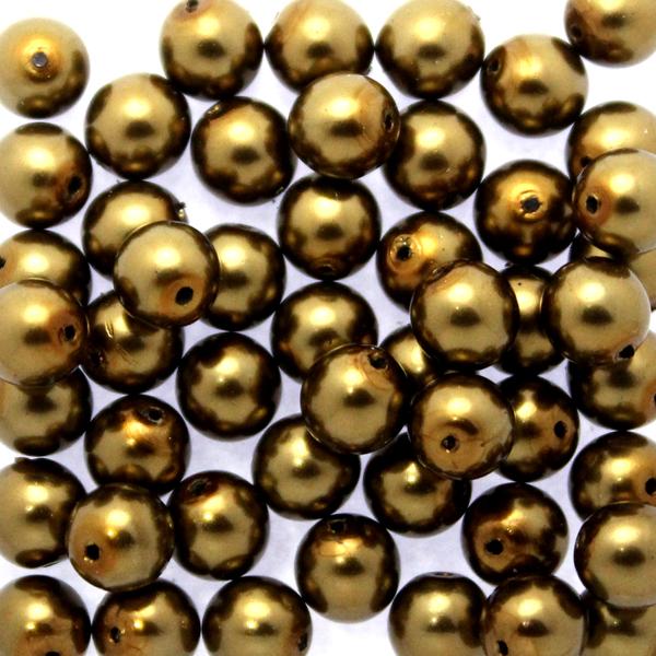 Brass Vaxade Runda/Druks 6mm 50st