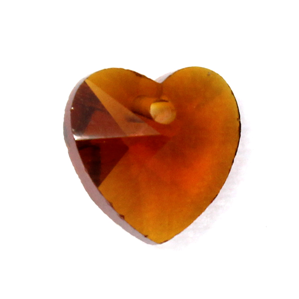 Topaz Hjärta Glas 10x10mm 1st