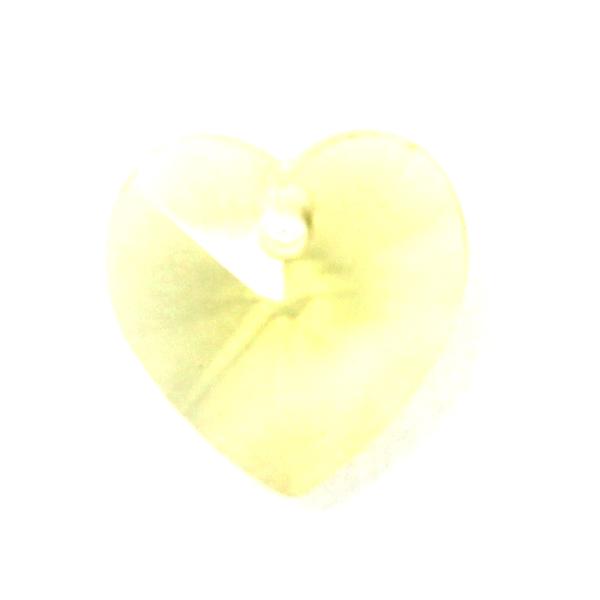 Jonquil Hjärta Glas 10x10mm 1st