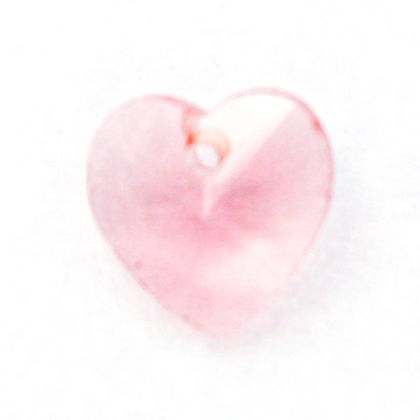 Pink Hjärta Glas 10x10mm 1st
