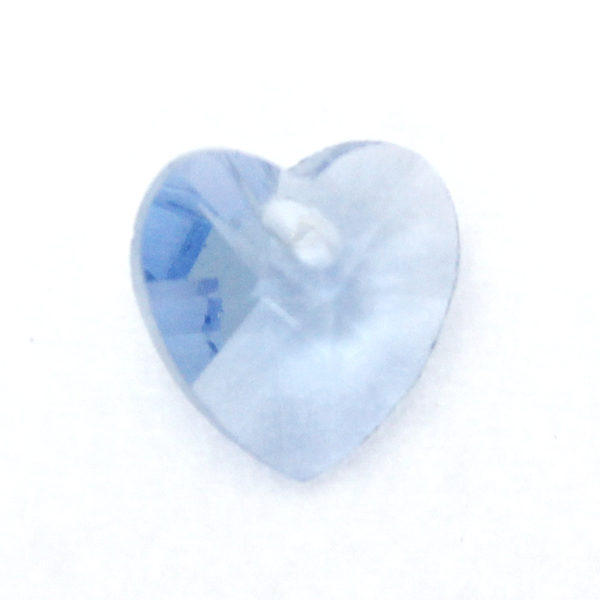 Light Sapphire Hjärta Glas 10x10mm 1st