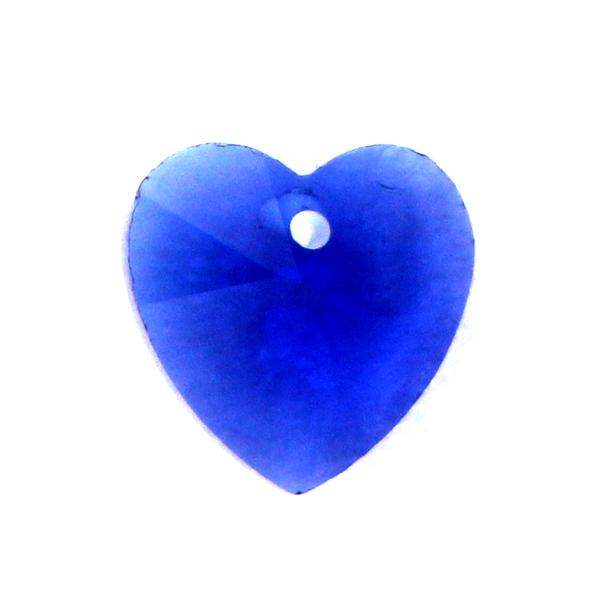 Cobalt Hjärta Glas 10x10mm 1st
