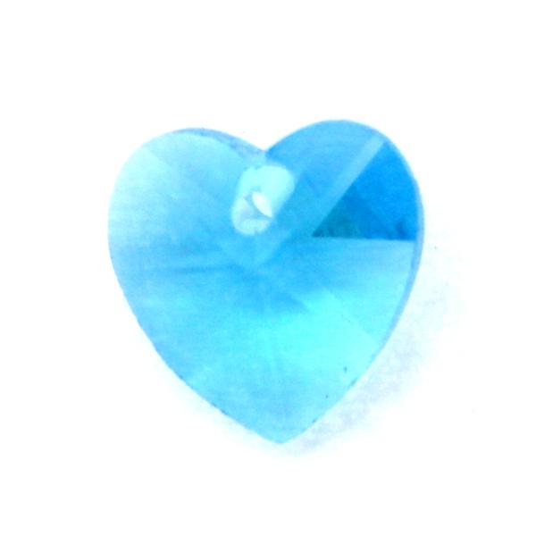 Aqua Hjärta Glas 10x10mm 1st