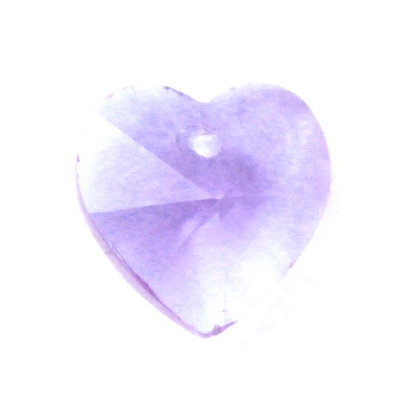 Violet Hjärta Glas 10x10mm 1st