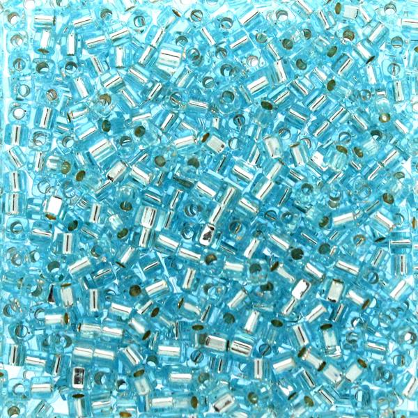Silverlined Aqua SB18-0018 Miyuki 1,8mm Cube 10g
