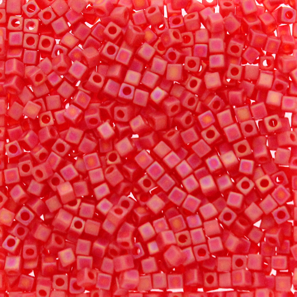 Matte Transparent Red Orange AB SB18-0140FR Miyuki 1,8mm Cube 10g