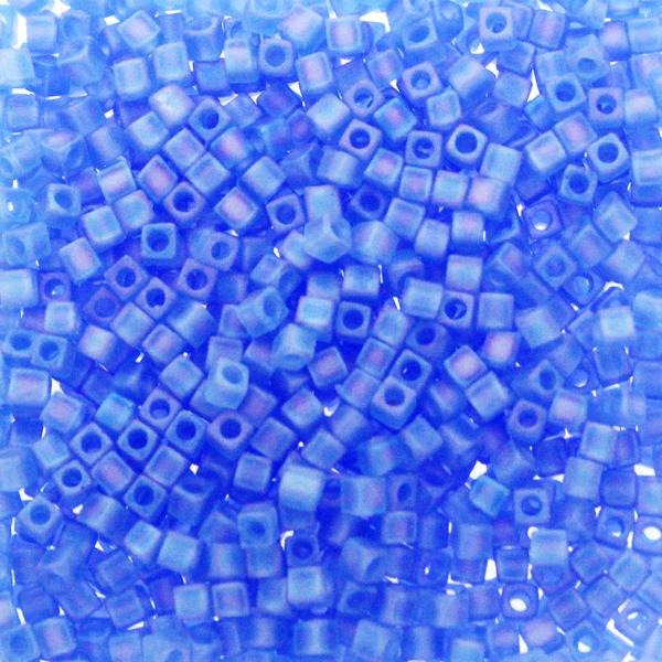 Matte Transparent Sapphire AB SB18-150FR Miyuki 1,8mm Cube 10g