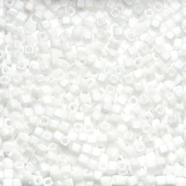 Matte Opaque White AB SB18-0402FR Miyuki 1,8mm Cube 10g