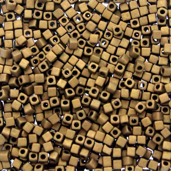 Matte Metallic Dark Bronze SB18-2006 Miyuki 1,8mm Cube 10g