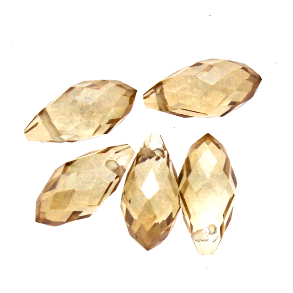 Crystal Gold Shade Droppe Glas 12x6mm 1st