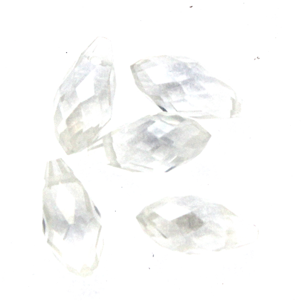 Crystal Luster Droppe Glas 12x6mm 1st