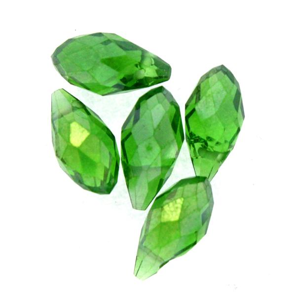 Green AB Droppe Glas 12x6mm 1st