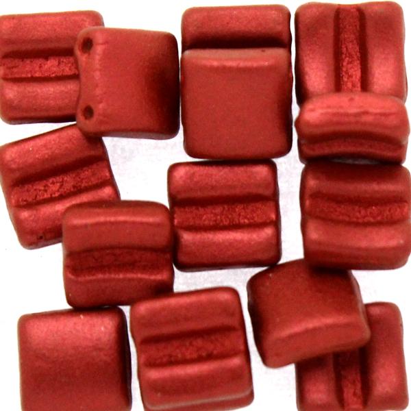 Lava Red Fixer Bead Horizontal Holes 5g