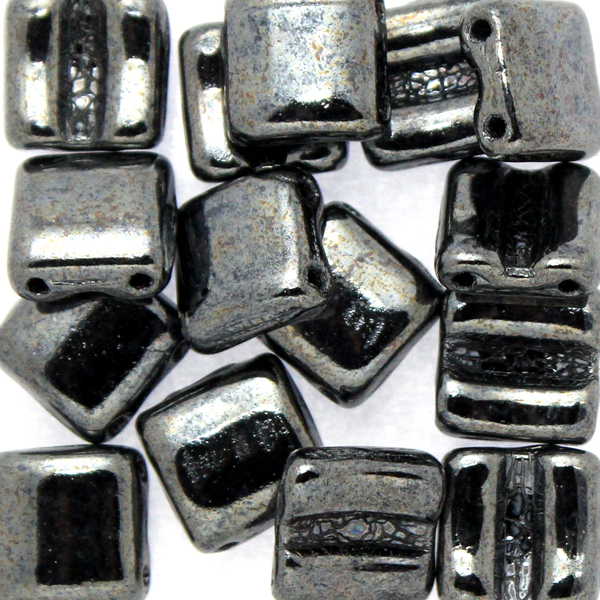 Hematite Fixer Bead Horizontal Holes 5g