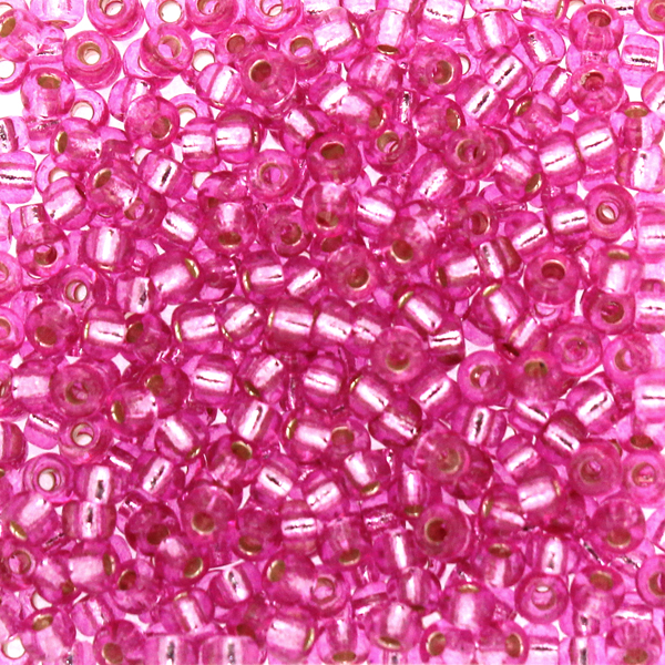 Duracoat Silverlined Dyed Pink Parfait 8-4267 Miyuki 8/0 10g