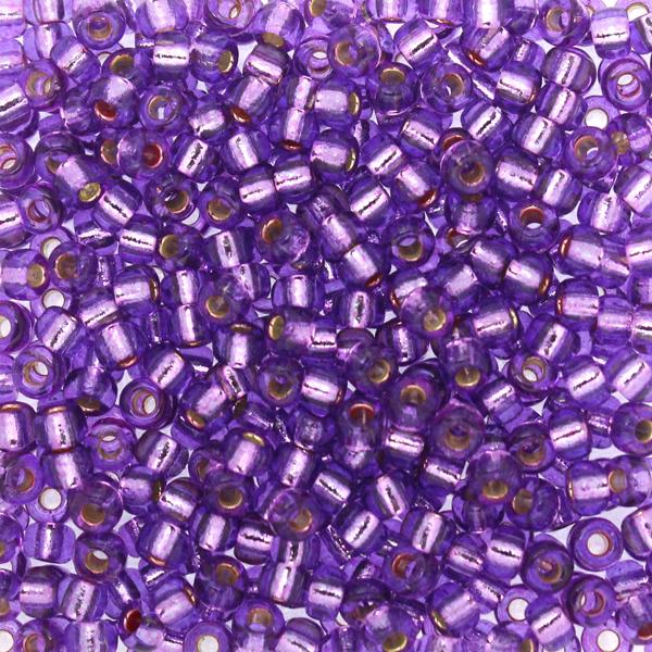 Duracoat Silverlined Dyed Lavender 8-4278 Miyuki 8/0 10g